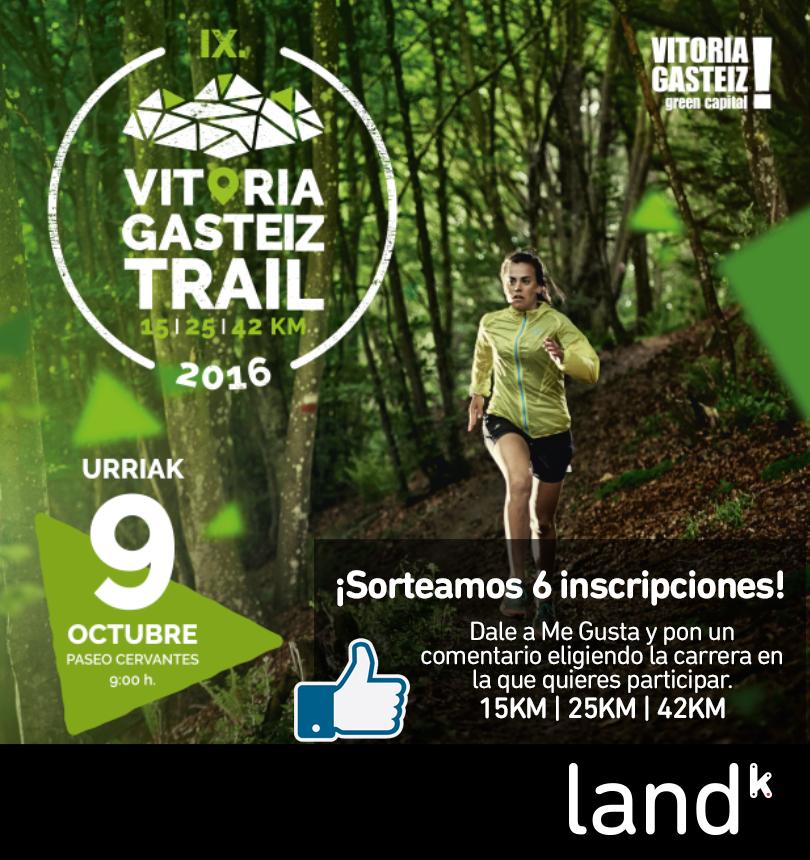 Sorteamos 6 inscripciones para la Vitorial Gasteiz trail.