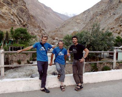 Iñurrategi, Vallejo y Zabalza han salido esta mañana hacia Askole desde Skardú