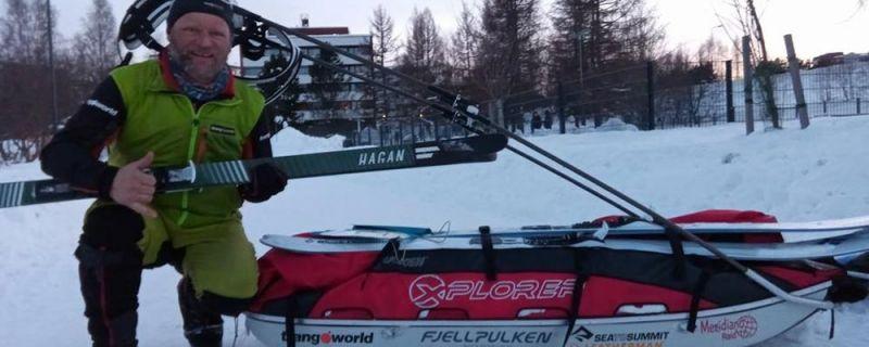 Un vallisoletano bate récords en una de las pruebas más duras de deporte extremo en Laponia